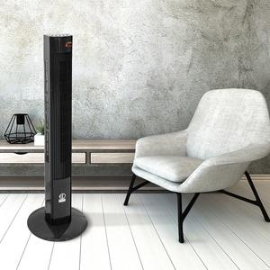 ECD Germany Standventilator mit LED Display und Fernbedienung - 45W - 116x31 cm - mit 3 Geschwindigkeitsstufen und Ventilationsmodi - Zimmerventilator Säulenventilator Ventilator Turmventilator