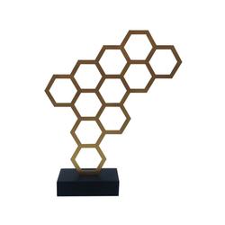 KUNSTLOFT Dekofigur Goldener Honig, handgefertigte Figur aus Kunststein