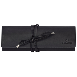 Windrose Nappa Schmuckrolle 23,5 cm Leder schwarz