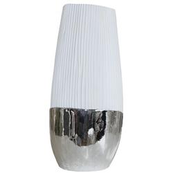 Casa padrino Designer Dekovase Weiß (H 50cm x B 22cm  x T 22 cm) -  moderne Vase