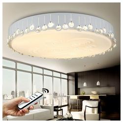 style home LED Deckenleuchte JX838, Kristall Wandlampe Voll dimmbar mit Fernbedienung