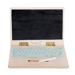 Bloomingville Lernspielzeug Holz Computer Laptop mit Kreide