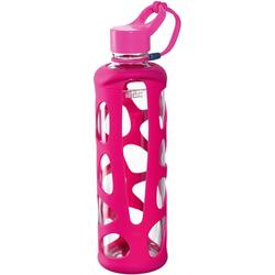 LEONARDO Trinkflasche To go Flasche II IN GIRO, Glas/Silikon, 750 ml rosa
