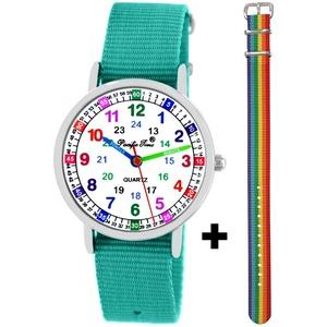 Pacific Time Quarzuhr, + farbiges Einhorn Regenbogen Armband - Gratis Versand grün