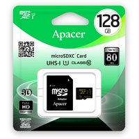 Apacer microSDXC 128GB Class 10 UHS-I + SD-Adapter