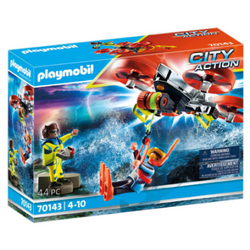 PLAYMOBIL® City Action Seenot: Taucher-Bergung mit Rettungsdrohne 70143