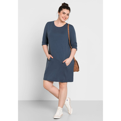Sheego Sweatkleid Sheego jeansblau