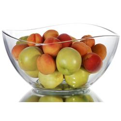 PLATINUX Schüssel Schüssel, Glas, (1-tlg), 1,7L Glasschale Dessertschüssel Salatschüssel groß Servierschüssel Küchenschüssel Schüssel beige