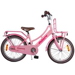 LeNoSa Kinderfahrrad Volare 18 Zoll Holland Fahrrad für Mädchen - Pink - Alter 4+, 1 Gang