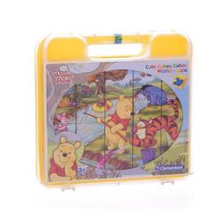 Clementoni® Steckpuzzle Winnie Pooh Würfelpuzzle (20 Teile), 20 Puzzleteile