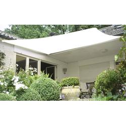 Vierecksonnensegel HDPE creme weiß 360 x 360 cm Wind-u. Wasserdurchlässig