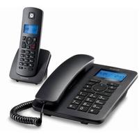 Motorola Festnetztelefon Motorola C4201 Combo DECT (2 pcs) Schwarz