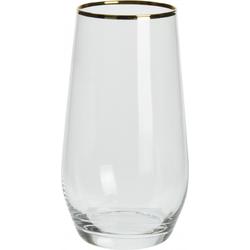 Glas mit Goldrand