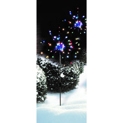 JOKA international Gartenstecker LED Gartenstecker Feuerwerk bunt 17749 LED Gartenstecker Feuerwerk bunt