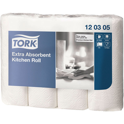 Tork 120305 Extra Absorbent Kitchen Roll 3 Ply - 12 Packs Of 4 x 5...