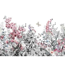 living walls Fototapete Blumenwiese Vlies, glatt, (1 St), 350 x 255 cm
