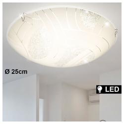 Globo Deckenstrahler, LED Design Decken Strahler Kristall Leuchte Glas Wohn Ess Zimmer Chrom Lampe Globo 48206-8