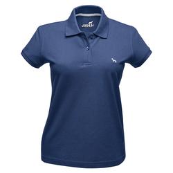 Hunter Damen-Poloshirt blau, Größe: L