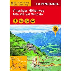 3D-Wanderkarte Vinschger Höhenweg 1 : 25 000