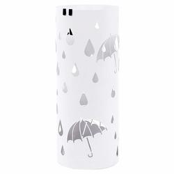 Stojak na parasole Rain metalowy biały na planie koła