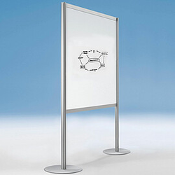 SCREEN-INTRO Stellwand mit Whiteboardtafel, b100-120xt35xh190cm