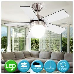 etc-shop Deckenventilator, LED 6 Watt Deckenventilator Ventilator mit Zugschalter und Beleuchtung