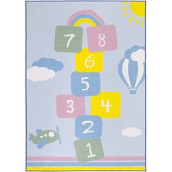 Kinderteppich, Duo, Andiamo, rechteckig, Höhe 10 mm, maschinell getuftet bunt Kinder Bunte Kinderteppiche Teppiche