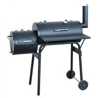 Barbecue-Smoker Grill Standgrill Räucherofen, schwarz ~ klein