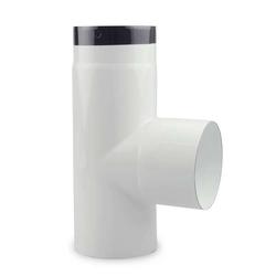 Ø 120 mm Ofenrohr T-Stück emailliert Weiß