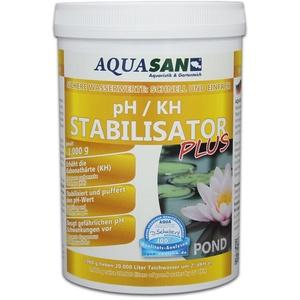 AQUASAN Gartenteich pH/KH Stabilisator Plus (GRATIS Lieferung in DE - Stabilisiert den KH-Wert und pH-Wert - Sorgt dabei für lebenswichtige und stabile Wasserwerte im Gartenteich), Inhalt:1 kg