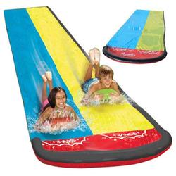 kueatily Wasserrutsche Wasserrutsche, 480 x 140 cm, Wasserrutschenmatte, Wassermatte Outdoor-Wasserspielzeug für Garten, Rasen und Kinder