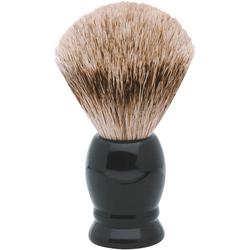 ERBE Rasierpinsel M, Dachs-Zupfhaar, schwarzer Kunststoff-Griff