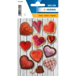Sticker Decor Flauschige Herzen VE=3 Blatt