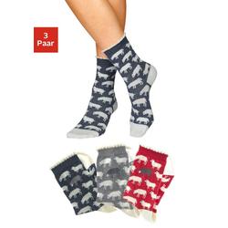 Sympatico Socken (3-Paar) mit feinem Muschelabschluss blau 35-38