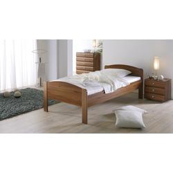 Seniorenbett - 100x190 cm - Nussbaum natur - Bett für Senioren San Martino