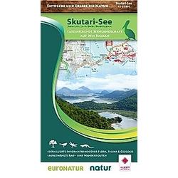 Nature Map Skutarisee / Lake Skutari 1:55 000. Huber Kartographie GmbH  - Buch