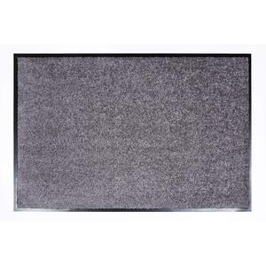 ASTRA hochwertige Schmutzfangmatte – waschbare Fußabstreifer – robuster – langlebiger Fußabtreter – für den Indoorbereich – grau – 60 x 90 cm