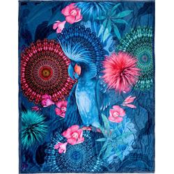 Plaid Ofelia, hip, mit Mandalas und Blumen