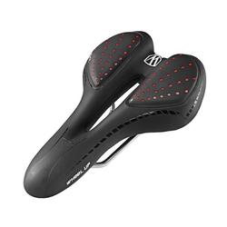 WHEEL UP Fahrradsattel Fahrradsattel Gel Mountainbike MTB Sattel Bequem Comfort Ergonomisch, schwarz-rot