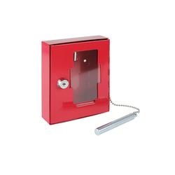 HMF Schlüsselkasten NSK 102, Notschlüsselkasten mit Hammer, 5 x 12 x 4 cm