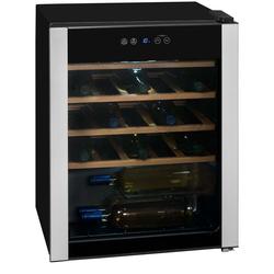 Exquisit Weinkühlbox schwarz digitale Anzeige 24 Flaschen 66 Liter  WS124-3EA