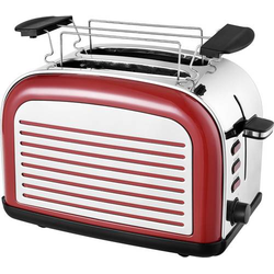 TKG Team Kalorik TKG TO 2500 R Toaster mit Brötchenaufsatz Rot