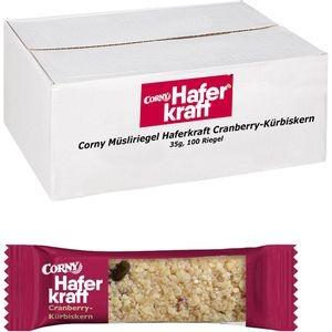 Corny Müsliriegel Haferkraft Cranberry-Kürbiskern, je 35g, 100 Riegel