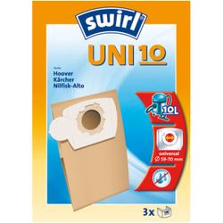 Swirl SFB UNI 10 Staubsaugerbeutel, Universal, 1 Packung = 3 Stück