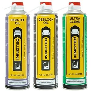 Innotec Wartung Autopflege Service Set inkl. Rostlöser Bremsenreiniger und Teflonöl