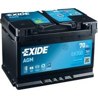 Exide Ek700 AGM-Batterie 70Ah