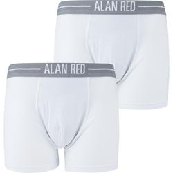 Alan Red Boxershorts Weiß 2er-Pack - Weiß Größe S