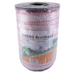 Weidezaun Band »Torero« Breitband · 20mm, 200m, weiß-rot