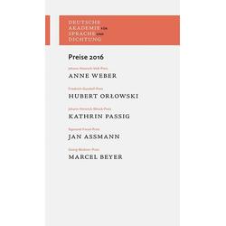Preise 2016 als Buch von