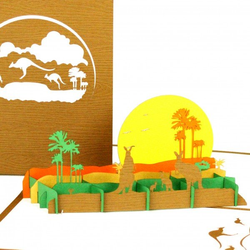 Colognecards Pop-Up Karte Känguru
